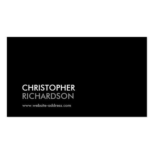 MODERN PROFESSIONAL BLACK Business Card