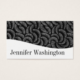 Modern Professional Black & White Business Cards