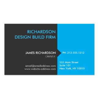 MODERN & PROFESSIONAL BLUE/DK GRAY Business Card