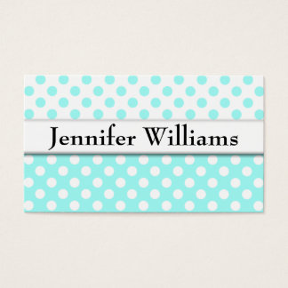 Modern Professional Blue Polka Dot Business Card