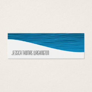Modern Professional Blue Slim Business Cards