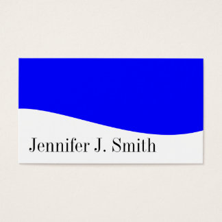 Modern Professional Blue & White Business Cards