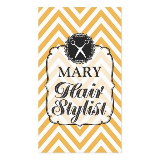 Modern Professional Chevron Hair Stylist Cards Business Cards