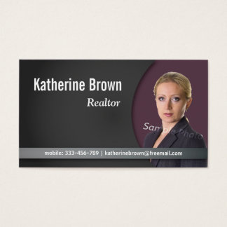 Insurance agent business cards templates zazzle modern professional chic real estate photo business card reheart Gallery