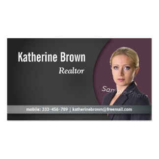 Modern, Professional, Chic, Real Estate, Photo Double-Sided Standard Business Cards (Pack Of 100)