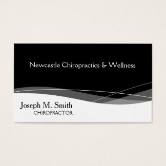 Modern Professional Chiropractor Business Card