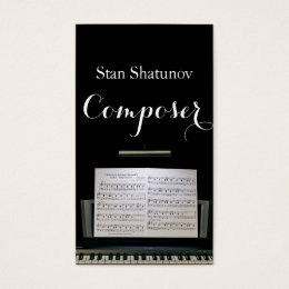 Modern Professional Composer Music Notes Musician Business Card