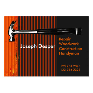 Modern Professional Construction Mr.Handyman Large Business Cards (Pack Of 100)