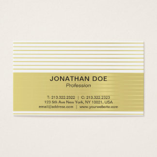 Life management business cards templates zazzle modern professional creative gold striped luxe business card colourmoves