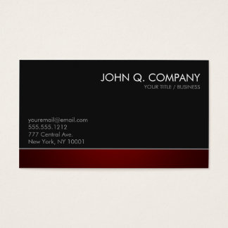 Modern Professional Dark Business Card - Red