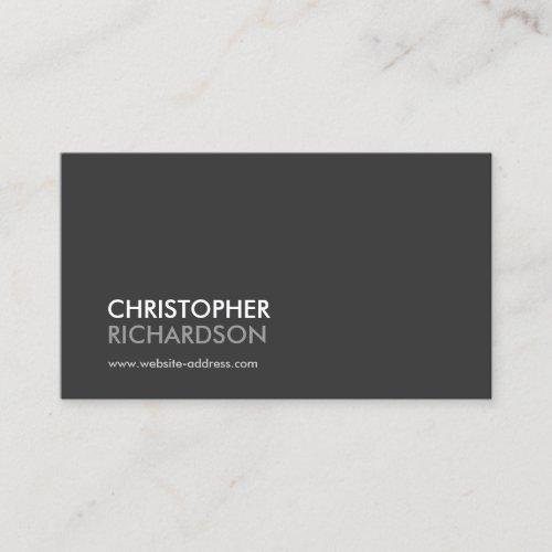 MODERN PROFESSIONAL Dark Gray Business Card