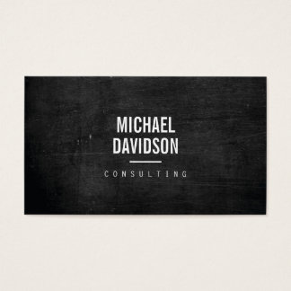 MODERN PROFESSIONAL Dark Wood Business Card