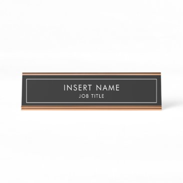 Modern Professional Desk Name Plate