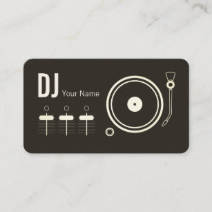 Dj business cards 1400 dj business card templates modern professional dj record player cover business card reheart Images