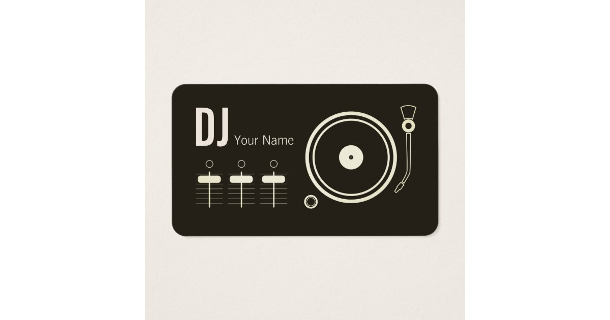 Professional Dj Business Cards & Templates | Zazzle