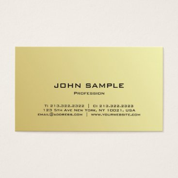 Beach Themed Modern Professional Elegant Black and Gold Gloss Business Card