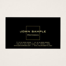 Modern Professional Elegant Black and Gold Gloss Business Card