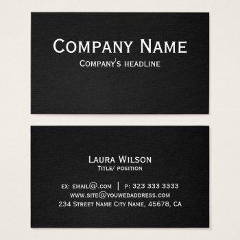 Modern Professional Elegant Black Simple Business Card by RainbowChild_Art at Zazzle