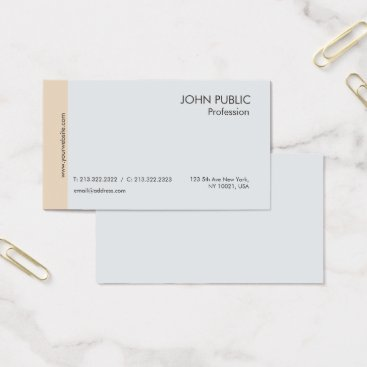 Lawyer Themed Modern Professional Elegant Chic Grey Beige Business Card