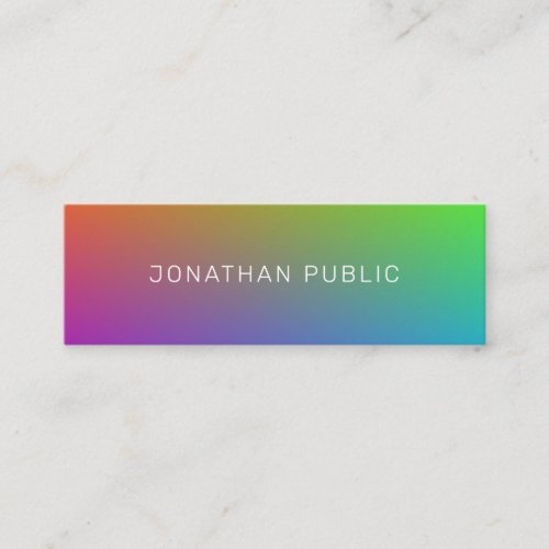 Modern Professional Elegant Colorful Minimalist Mini Business Card