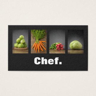 Modern Professional Elegant Nutrition Chef Business Card