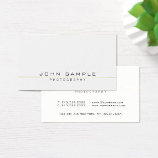 Modern Professional Elegant Photographer Simple Business Card
