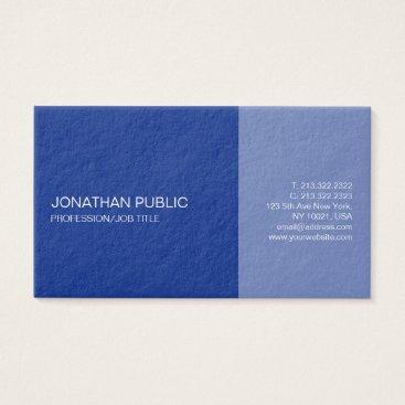 Lawyer Themed Modern Professional Elegant Plain Blue Design Business Card