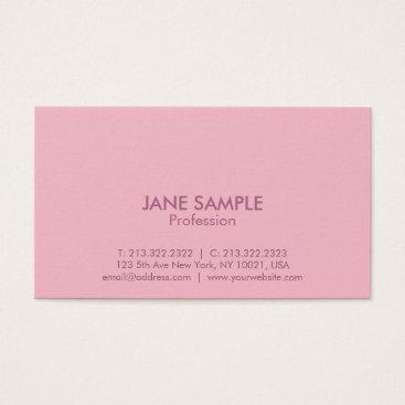 Lawyer Themed Modern Professional Elegant Simple Design Pink Business Card