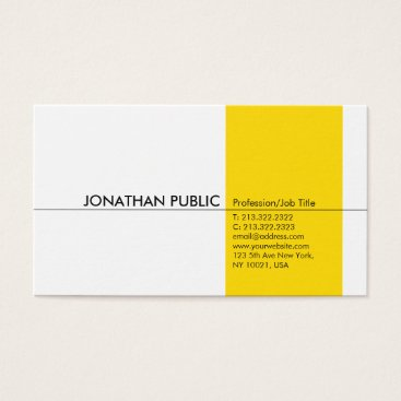 Lawyer Themed Modern Professional Elegant Yellow White Simple Business Card