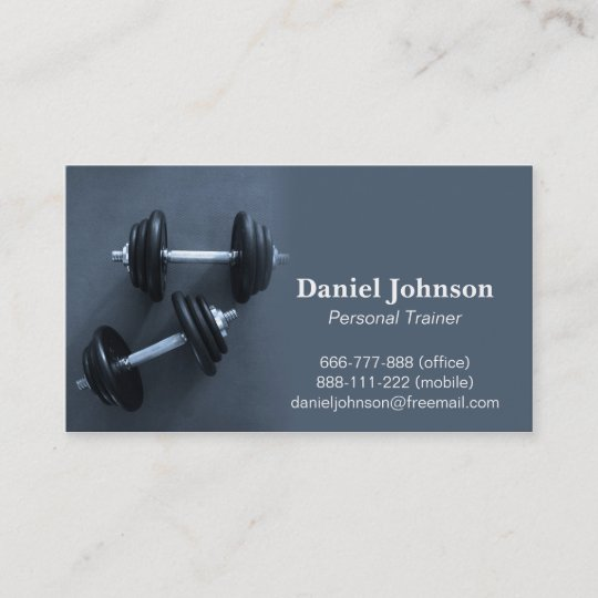 Modern professional fitness personal trainer business card modern professional fitness personal trainer business card colourmoves