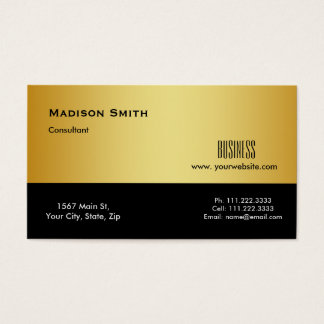 Modern Professional Gold Metal Consultant Business Card