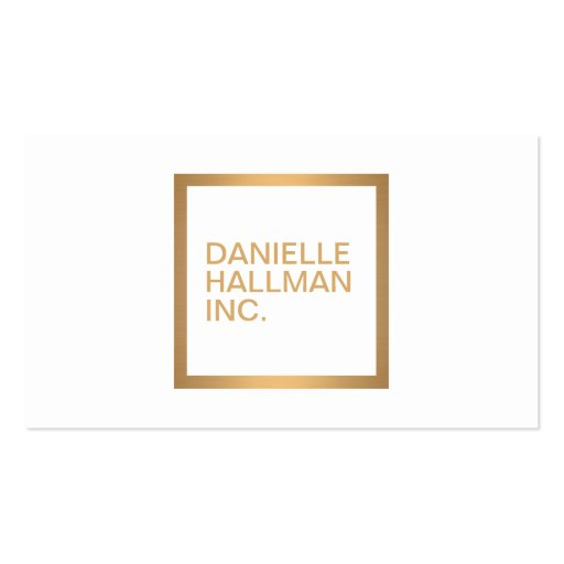 Modern Professional Gold Name Logo Business Card Templates