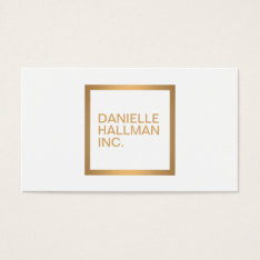 Modern Professional Gold Name Logo Business Card at Zazzle