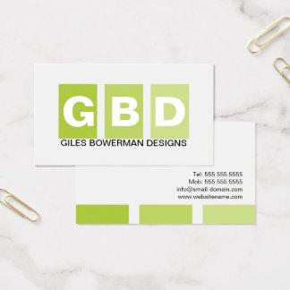 Modern Professional Green Business Card