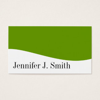 Modern Professional Green & White Business Cards
