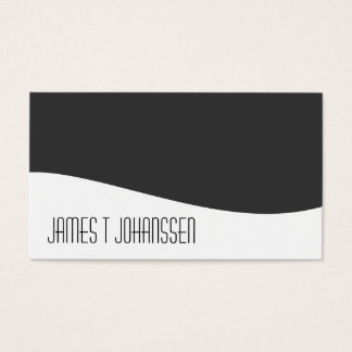 Modern Professional Grey & White Business Cards