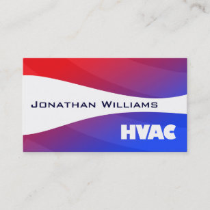 Hvac business cards zazzle modern professional hvac business cards accmission Images