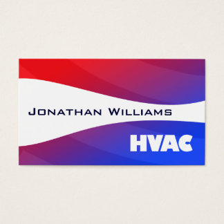 Modern Professional HVAC Business Cards