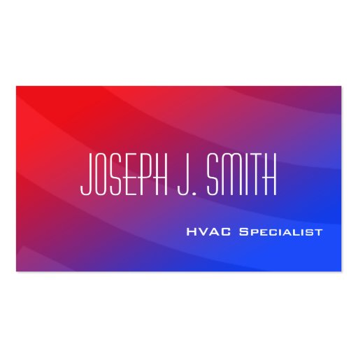 Modern Professional HVAC Business Cards