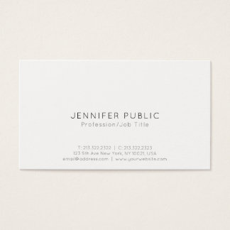 Modern Professional Minimalistic Simple Plain Business Card