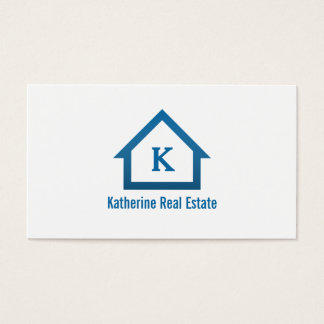 Modern Professional Monogram Real Estate Realtor Business Card