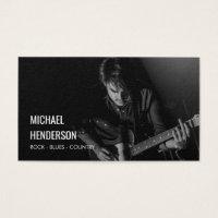 Modern Professional Musician Photo Business Card