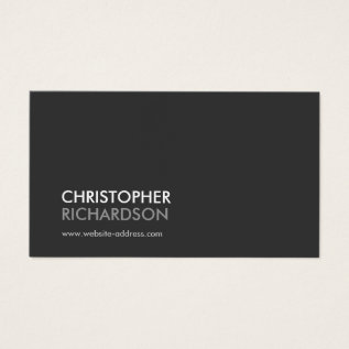 MODERN PROFESSIONAL No. 1 Business Card at Zazzle