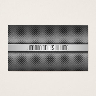 Modern Professional Perforated Metal Business Card