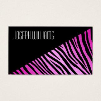 Modern Professional Pink Zebra Business Cards