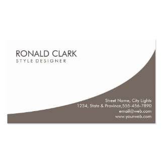 Modern Professional Plain Dark Brown Automotive Double-Sided Standard Business Cards (Pack Of 100)