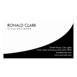 Modern Professional Plain White Simple Elegant Double-Sided Standard Business Cards (Pack Of 100)