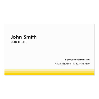 Modern Professional Plain Yellow Double-Sided Standard Business Cards (Pack Of 100)