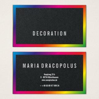 Modern Professional Rainbow Businesscards Business Card