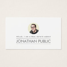 Modern Professional Real Estate Business Card at Zazzle